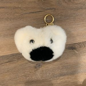 NEW Michael Kors teddy bear rabbit fur keychain